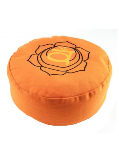 Meditationskissen Sakral Chakra orange