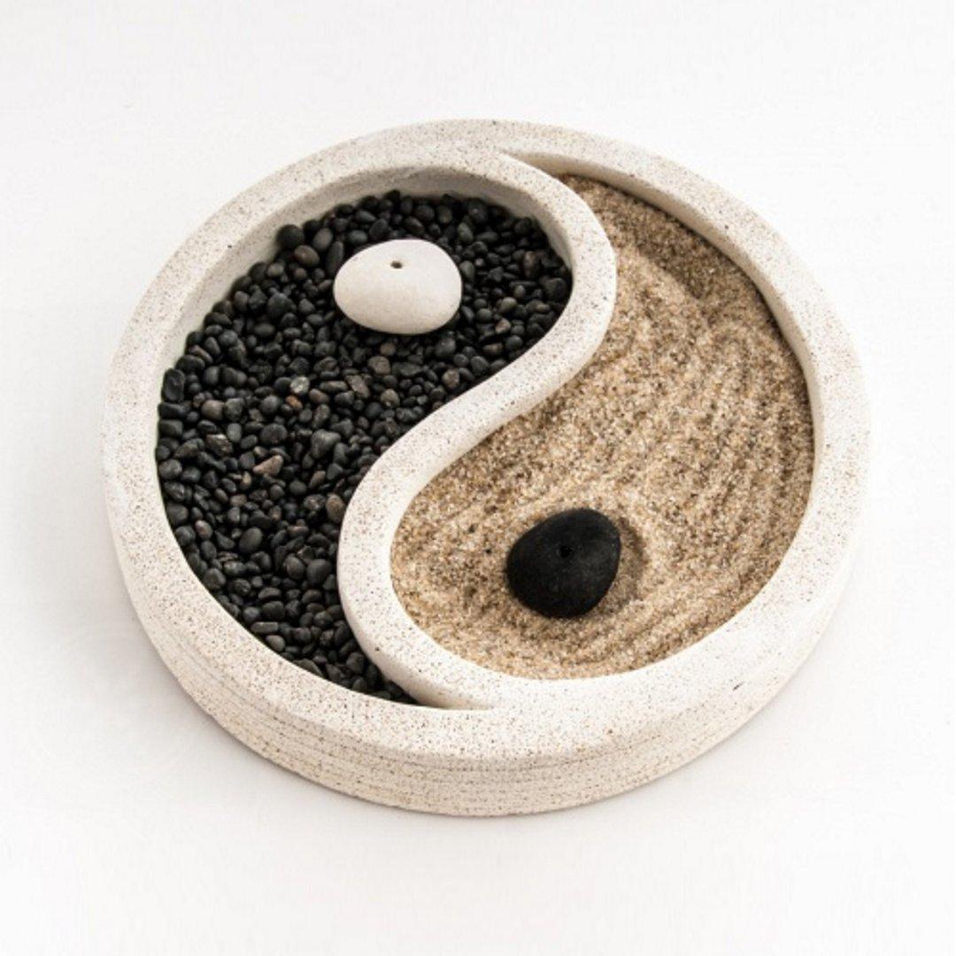 zen garten wei ying yang neu im sortiment preisg nstig kaufen. Black Bedroom Furniture Sets. Home Design Ideas